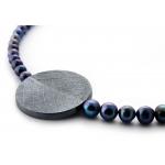 Огърлица от сребро и тъмни перли